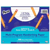 "Pacon® Multi-Program Handwriting Paper, 10-1/2"" x 8"", 1-1/8"" Ruling, 500 Sheets/Ream"
