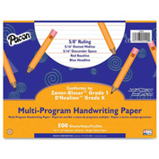 "Pacon® Multi-Program Handwriting Paper, 10-1/2"" x 8"", 5/8"" Ruling, 500 Sheets/Ream"