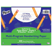 "Pacon® Multi-Program Handwriting Paper, 10-1/2"" x 8"", 1/2"" Ruling, 500 Sheets/Ream"