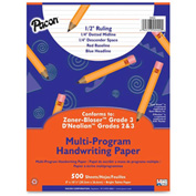 "Pacon® Multi-Program Handwriting Paper, 8"" x 10-1/2"", 1/2"" Ruling, 500 Sheets/Ream"