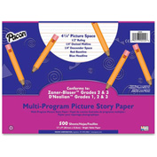 "Pacon® Multi-Program Picture Story Paper, 12"" x 9"", 1/2"" Ruling, 500 Sheets/Ream"