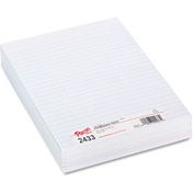 "Pacon® Composition Paper, 3/8"" Ruling, 16 lbs., 8 x 10-1/2, White, 500 Sheets/Pack"
