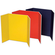 "Pacon® Tri-fold Presentation Foam Board, 48""W x 36""H, Assorted, 6/Carton"