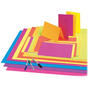 """Pacon® Fade-Resistant Poster Board, 22""""W x 28""""H, Neon Red, 25/Carton"""
