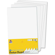 "Pacon® Recyclable Posterboard, 14""W x 22""H, White, 5/Pack"