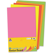 "Pacon® Recyclable Posterboard, 14""W x 22""H, Neon, 5/Pack"