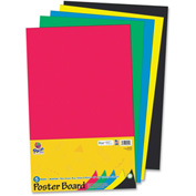 """Pacon® Recyclable Posterboard, 14""""W x 22""""H, Assorted, 5/Pack"""
