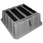 """1 Step Plastic Step Stand Large - Gray 37""""W x 37""""D x 14""""H - NBST-1 GY"""