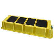"1 Step Plastic Step Stand Long - Yellow 66-1/2""W x 26-1/2""D x 10""H - NLST-1 YEL"