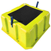 """1 Step Nestable Plastic Step Stand - Yellow 25""""W x 25""""D x 10""""H - NST-1 YEL"""