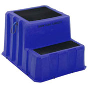 "2 Step Nestable Plastic Step Stand - Blue 26""W x 33""D x 20""H - NST-2 BL"
