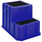 "2 Step Plastic Step Stand Extra Large - Blue 25-1/2""W x 33""D x 24""H - NTXST-2 BL"