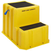 "2 Step Plastic Step Stand Extra Large - Yellow 25-1/2""W x 33""D x 24""H - NTXST-2 YEL"