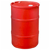US Roto Molding 20 Gallon Plastic Drum SS-CH-20 - Closed Head with Bung Cover - Lever Lock - Red