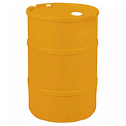 US Roto Molding 30 Gallon Plastic Drum SS-CH-30 - Closed Head with Bung Cover - Lever Lock - Orange
