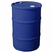 US Roto Molding 35 Gallon Plastic Drum SS-CH-35 - Closed Head with Bung Cover - Lever Lock - Blue