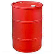 US Roto Molding 35 Gallon Plastic Drum SS-CH-35 - Closed Head with Bung Cover - Lever Lock - Red