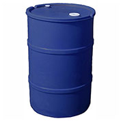 US Roto Molding 55 Gallon Plastic Drum SS-CH-55 - Closed Head with Bung Cover - Lever Lock - Blue