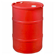 US Roto Molding 55 Gallon Plastic Drum SS-CH-55 - Closed Head with Bung Cover - Lever Lock - Red