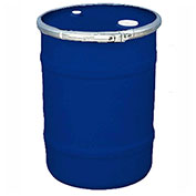 US Roto Molding 15 Gallon Plastic Drum SS-OH-15 - Open Head with Bung Cover - Bolt Ring - Navy Blue