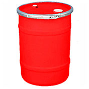 US Roto Molding 15 Gallon Plastic Drum SS-OH-15 - Open Head with Bung Cover - Bolt Ring - Red
