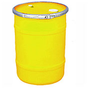 US Roto Molding 15 Gallon Plastic Drum SS-OH-15 - Open Head with Bung Cover - Bolt Ring - Yellow