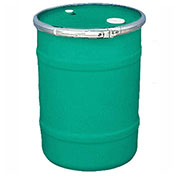 US Roto Molding 15 Gallon Plastic Drum SS-OH-15 - Open Head with Bung Cover - Lever Lock - Green