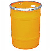 US Roto Molding 15 Gallon Plastic Drum SS-OH-15 - Open Head with Bung Cover - Lever Lock - Orange