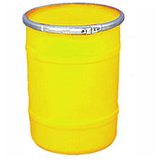 US Roto Molding 15 Gallon Plastic Drum SS-OH-15 - Open Head with Plain Lid - Bolt Ring - Yellow