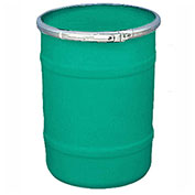 US Roto Molding 15 Gallon Plastic Drum SS-OH-15 - Open Head with Plain Lid - Lever Lock - Green