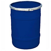 US Roto Molding 15 Gallon Plastic Drum SS-OH-15 - Open Head with Plain Lid - Lever Lock - Navy Blue