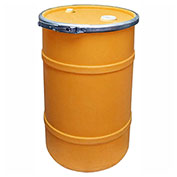 US Roto Molding 20 Gallon Plastic Drum SS-OH-20 - Open Head with Bung Cover - Bolt Ring - Orange