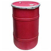 US Roto Molding 20 Gallon Plastic Drum SS-OH-20 - Open Head with Bung Cover - Bolt Ring - Red