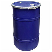 US Roto Molding 20 Gallon Plastic Drum SS-OH-20 - Open Head with Bung Cover - Lever Lock - Navy Blue