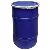 US Roto Molding 20 Gallon Plastic Drum SS-OH-20 - Open Head with Plain Lid - Lever Lock - Navy Blue
