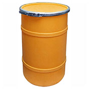 US Roto Molding 20 Gallon Plastic Drum SS-OH-20 - Open Head with Plain Lid - Lever Lock - Orange