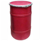 US Roto Molding 20 Gallon Plastic Drum SS-OH-20 - Open Head with Plain Lid - Lever Lock - Red