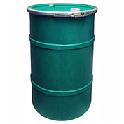 US Roto Molding 30 Gallon Plastic Drum SS-OH-30 - Open Head with Bung Cover - Bolt Ring - Green