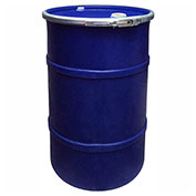 US Roto Molding 30 Gallon Plastic Drum SS-OH-30 - Open Head with Bung Cover - Lever Lock - Navy Blue