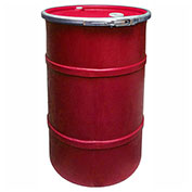 US Roto Molding 30 Gallon Plastic Drum SS-OH-30 - Open Head with Bung Cover - Lever Lock - Red