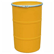 US Roto Molding 30 Gallon Plastic Drum SS-OH-30 - Open Head with Plain Lid - Lever Lock - Orange