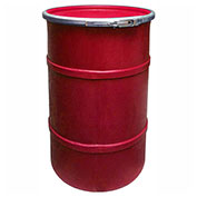 US Roto Molding 30 Gallon Plastic Drum SS-OH-30 - Open Head with Plain Lid - Lever Lock - Red