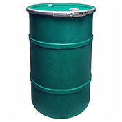 US Roto Molding 35 Gallon Plastic Drum SS-OH-35 - Open Head with Bung Cover - Bolt Ring - Green