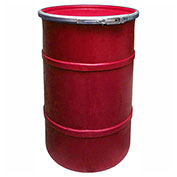 US Roto Molding 35 Gallon Plastic Drum SS-OH-35 - Open Head with Plain Lid - Lever Lock - Red