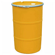 US Roto Molding 55 Gallon Plastic Drum SS-OH-55 - Open Head with Bung Cover - Lever Lock - Orange