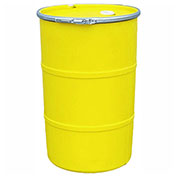 US Roto Molding 55 Gallon Plastic Drum SS-OH-55 - Open Head with Bung Cover - Lever Lock - Yellow