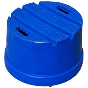 "1 Step Plastic Step Stand Round - Blue 21""Dia x 12""H - ST-1R BL"