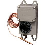 "PECO Industrial NEMA 4X Thermostat, -30°-100° Temperature Range, 8"" Remote Copper Bulb"