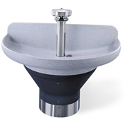 "Bradley TDB3104 Terreon 4 Person 54"" Semi-Circular, 7-1/2""D Bowl Washfountain W/Central Rising Vent"