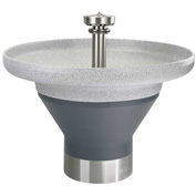 "Bradley TDB3108 Terreon 8 Person 54"" Semi-Circular, 8-1/2""D Bowl Washfountain W/Central Rising Vent"